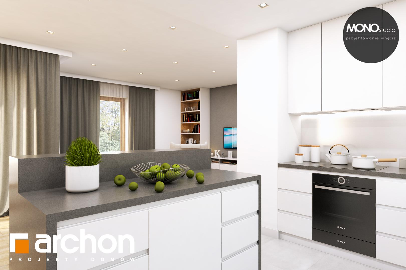 Проект будинку ARCHON+ Будинок в жимолості (Г2Т) візуалізація кухні 1 від 2