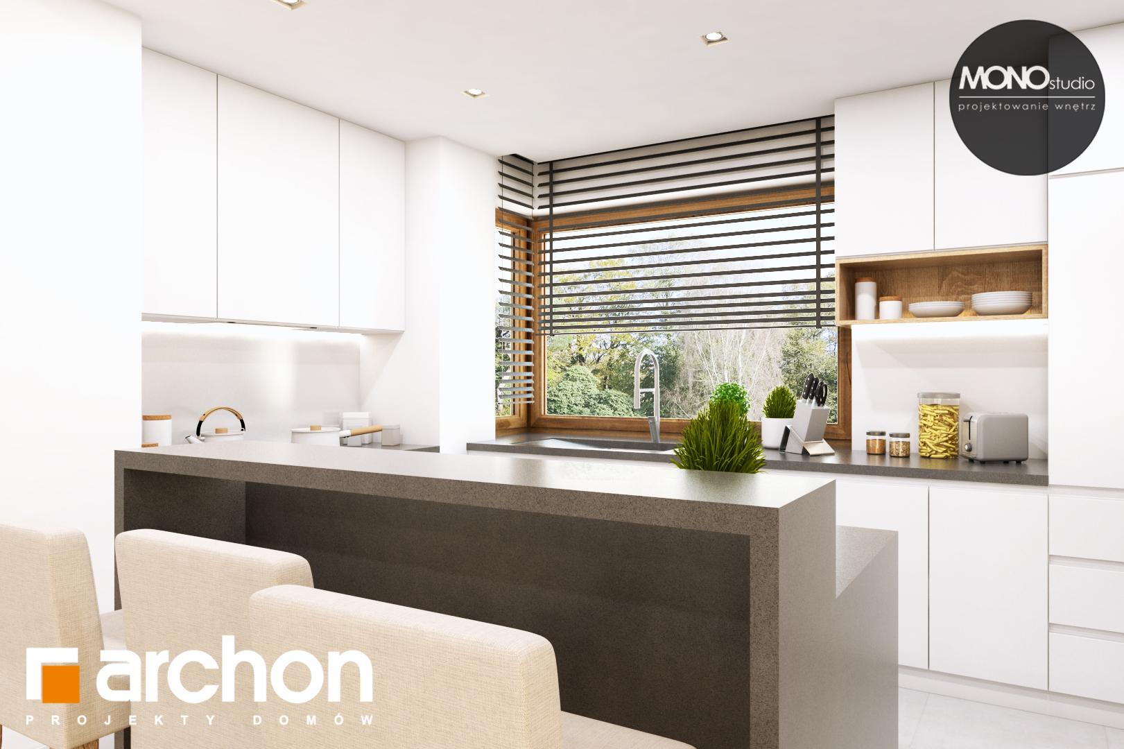 Проект дома ARCHON+ Дом в жимолости (Г2Т) визуализация кухни 1 вид 1