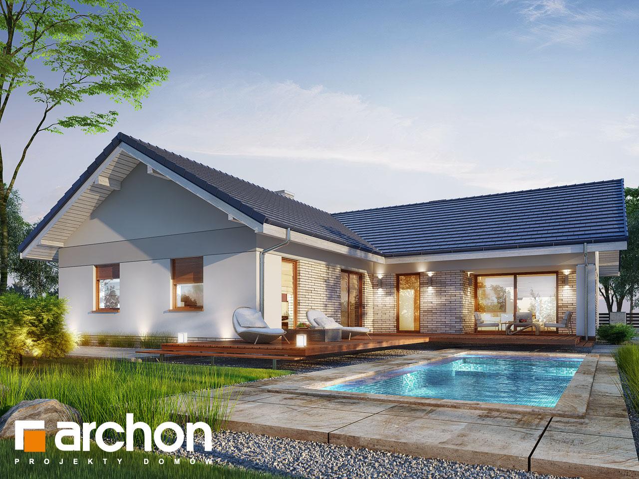 Проект дома ARCHON+ Дом в жимолости (Г2Т) Вид 2