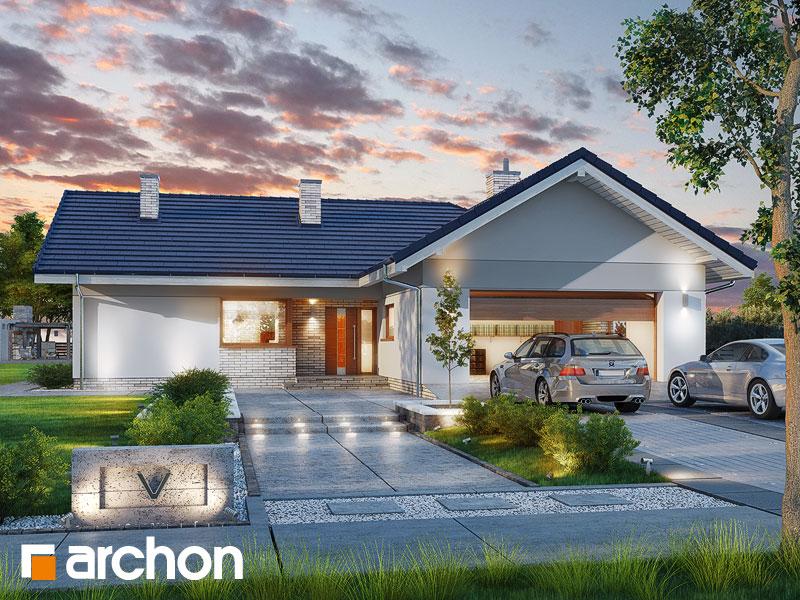 Проект дома ARCHON+ Дом в жимолости (Г2Т) Вид 1