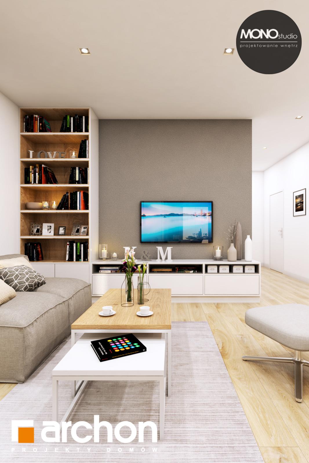 Проект будинку ARCHON+ Будинок в жимолості (Г2Т) денна зона (візуалізація 1 від 7)