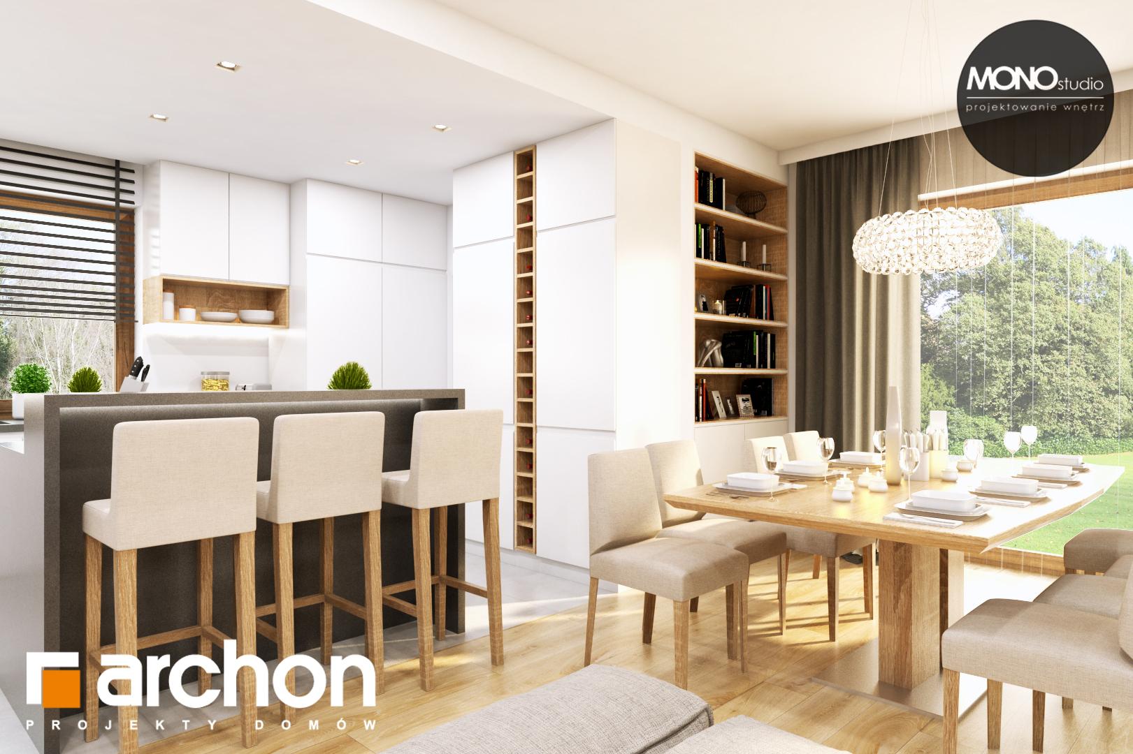 Проект дома ARCHON+ Дом в жимолости (Г2Т) дневная зона (визуализация 1 вид 5)