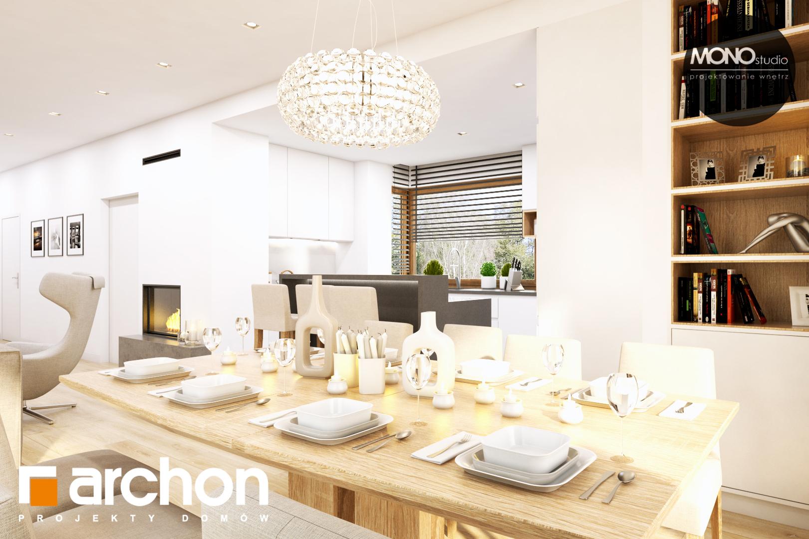 Проект дома ARCHON+ Дом в жимолости (Г2Т) дневная зона (визуализация 1 вид 6)