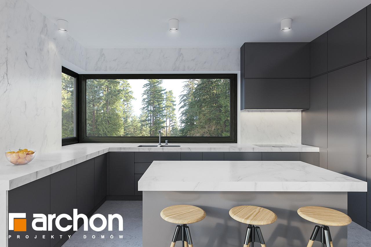 Проект будинку ARCHON+ Будинок в базиліці 2 візуалізація кухні 1 від 1