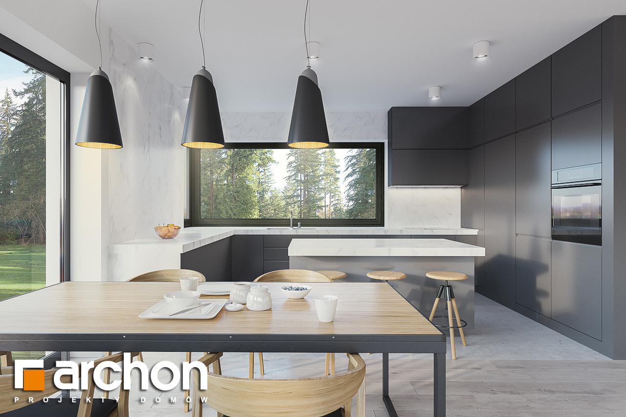 Проект будинку ARCHON+ Будинок в базиліці 2 візуалізація кухні 1 від 2