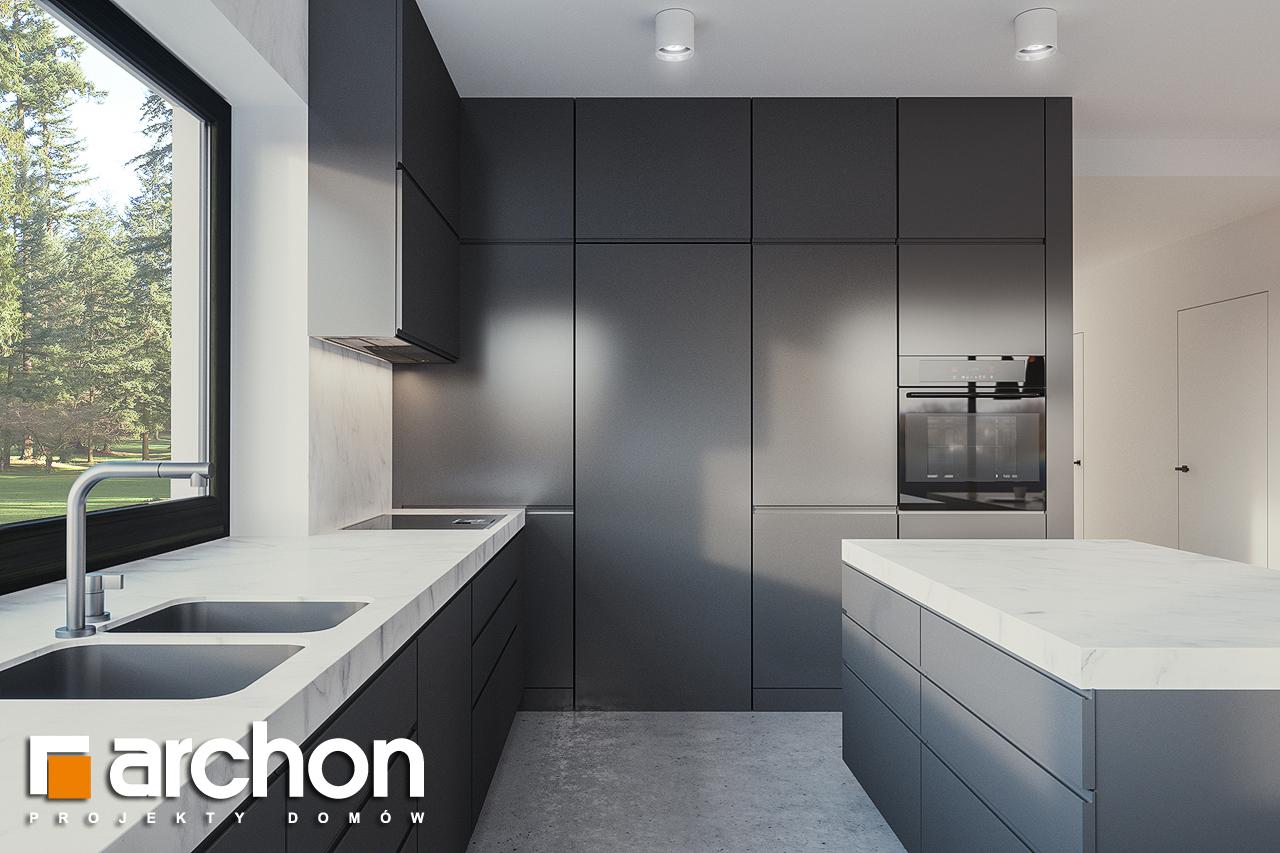 Проект будинку ARCHON+ Будинок в базиліці 2 візуалізація кухні 1 від 3