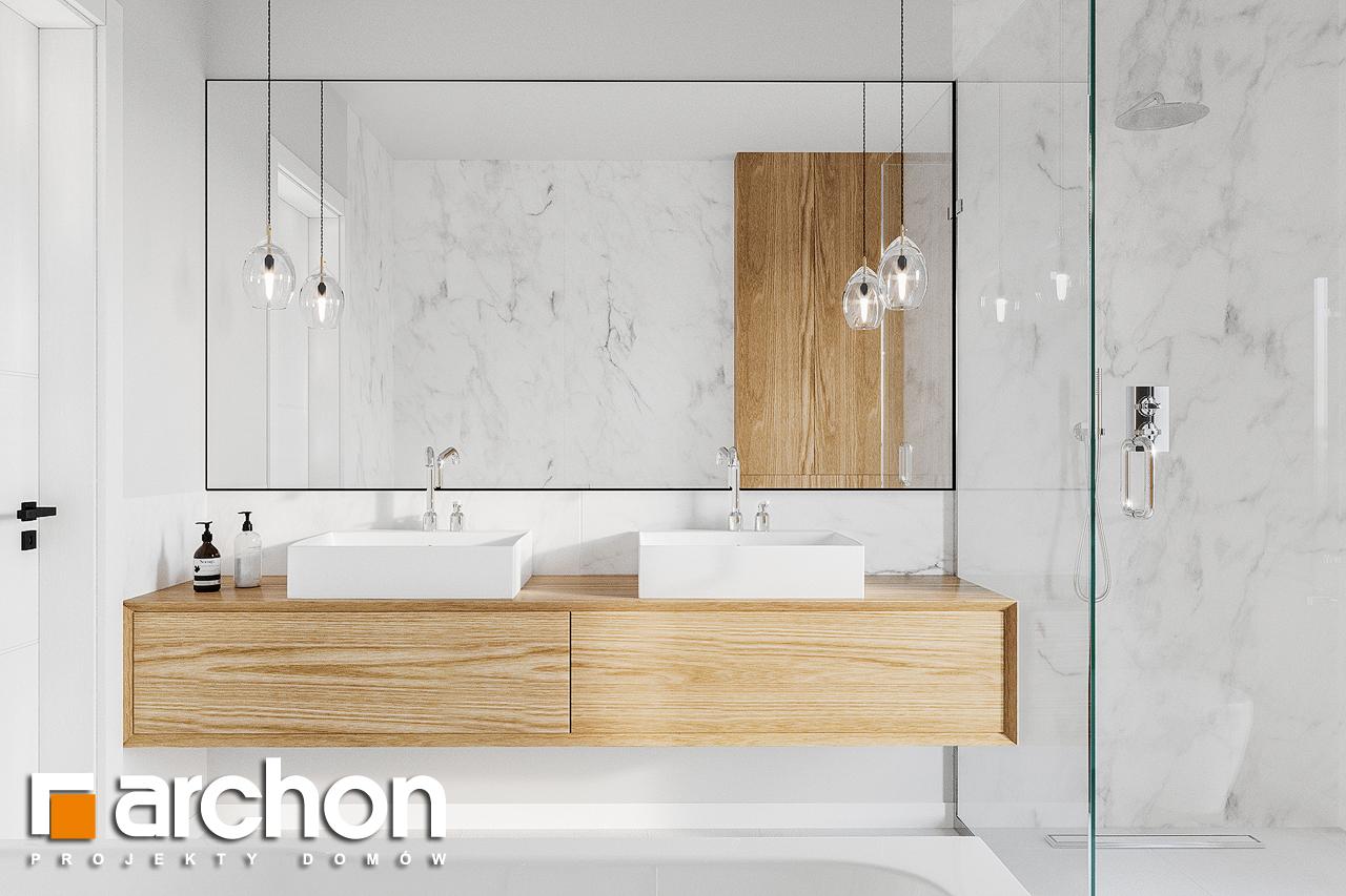 Проект будинку ARCHON+ Будинок в базиліці 2 візуалізація ванни (візуалізація 3 від 2)