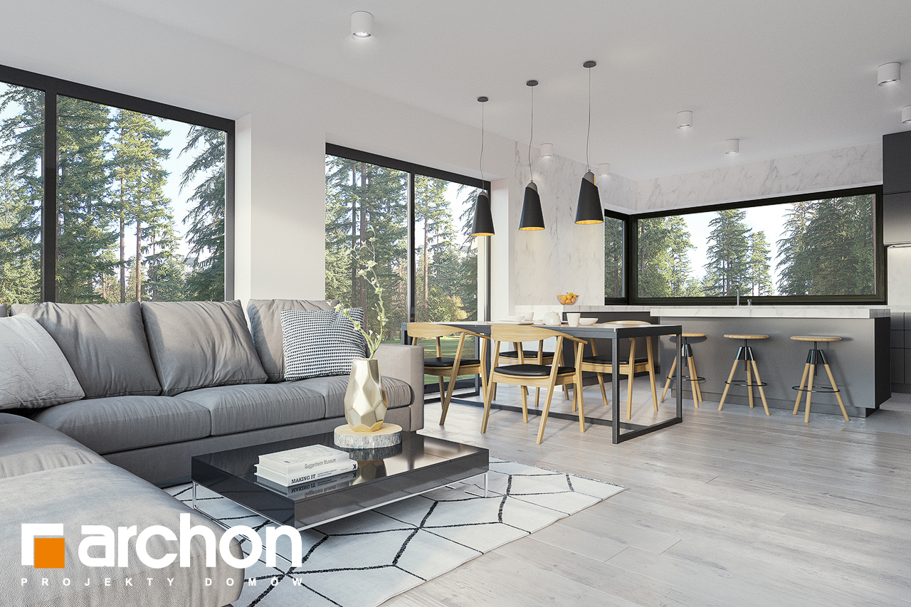 Проект будинку ARCHON+ Будинок в базиліці 2 денна зона (візуалізація 1 від 4)