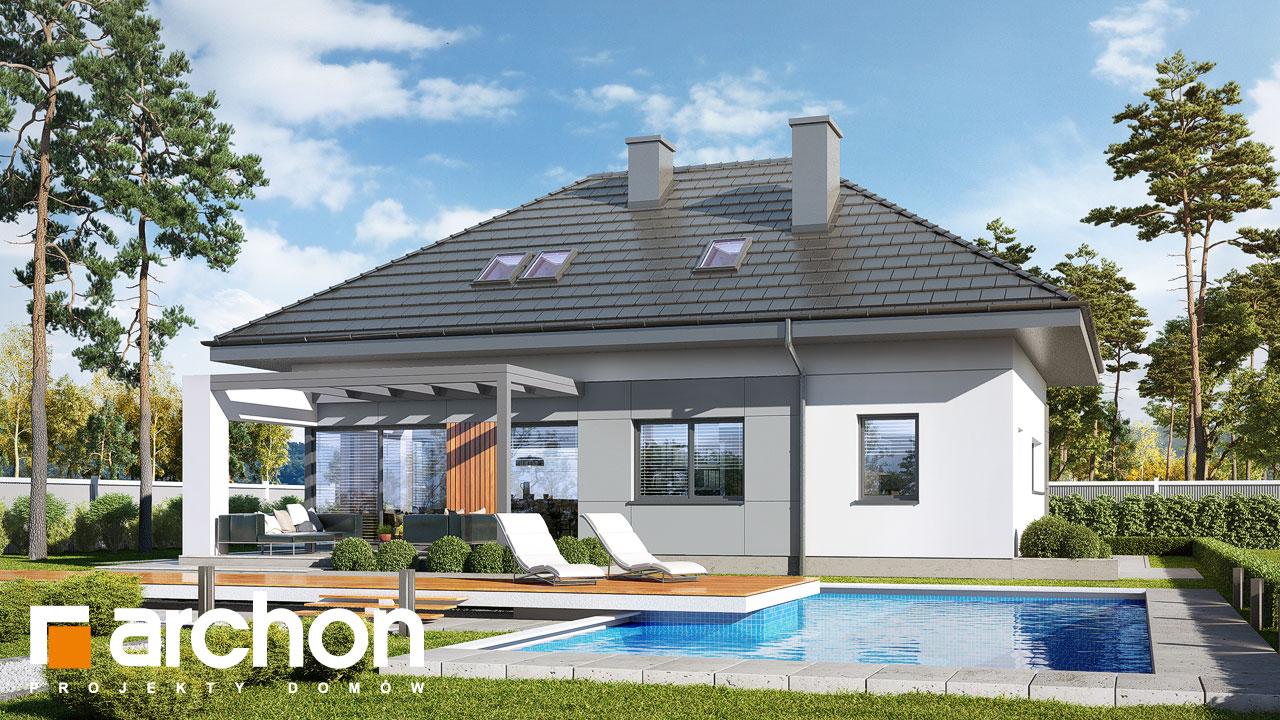 Проект будинку ARCHON+ Будинок в арахісах Вид 2