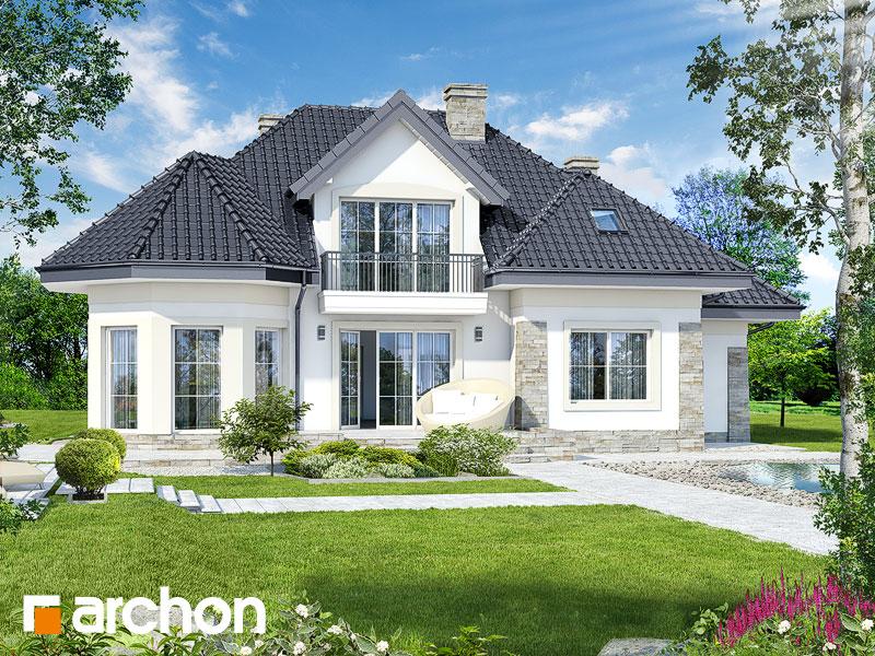 Проект будинку ARCHON+ Будинок в гібіскусі ver.2 Вид 1