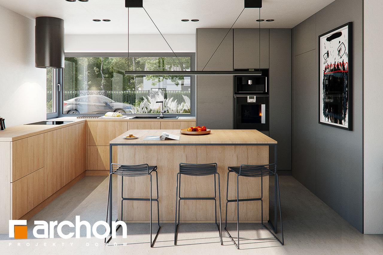 Проект будинку ARCHON+ Будинок в каландівах візуалізація кухні 1 від 1