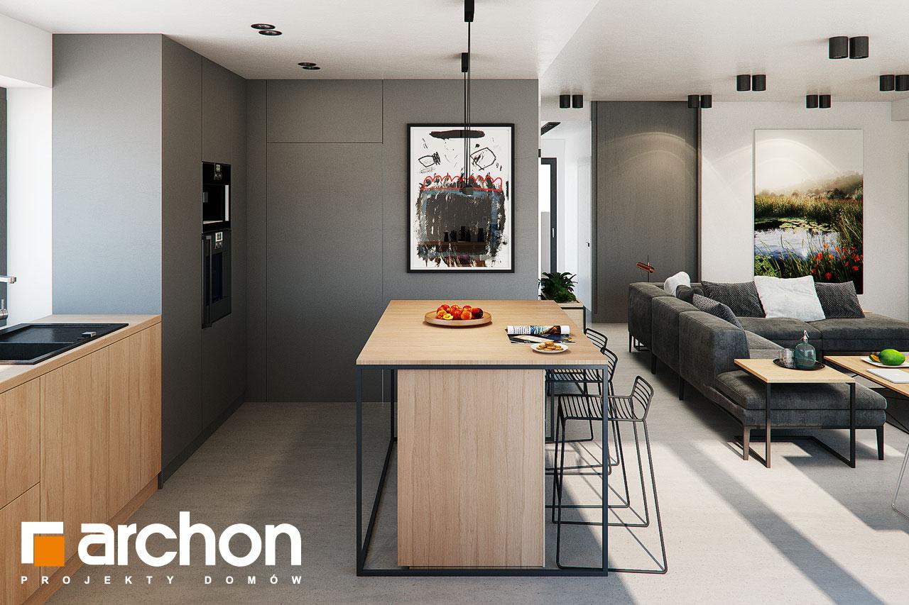 Проект будинку ARCHON+ Будинок в каландівах візуалізація кухні 1 від 2