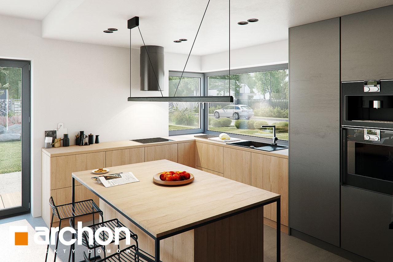 Проект будинку ARCHON+ Будинок в каландівах візуалізація кухні 1 від 3