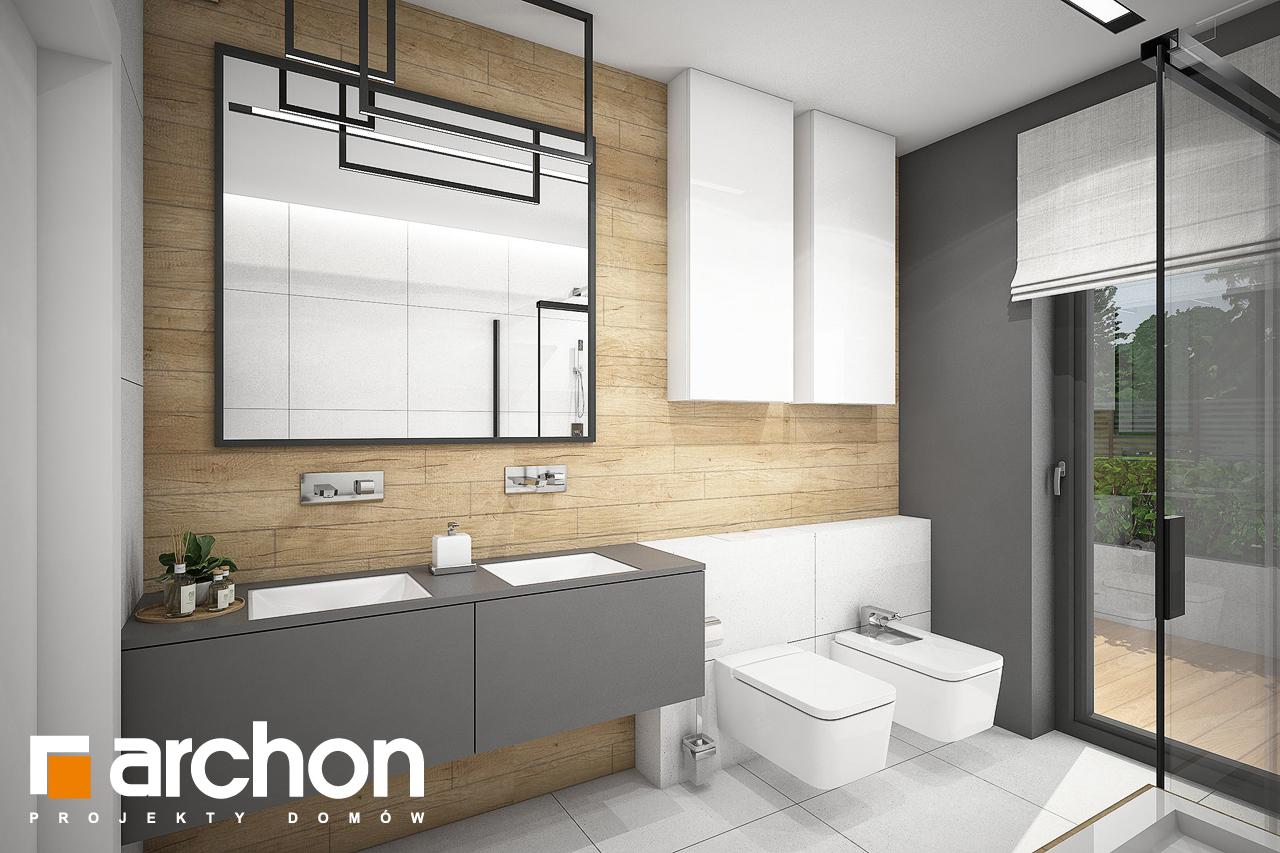 Проект будинку ARCHON+ Будинок в каландівах візуалізація ванни (візуалізація 3 від 1)