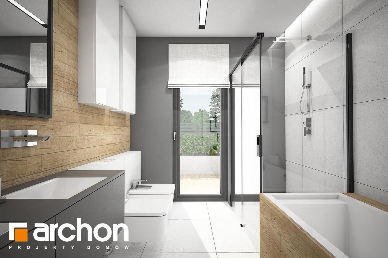 Проект будинку ARCHON+ Будинок в каландівах візуалізація ванни (візуалізація 3 від 2)