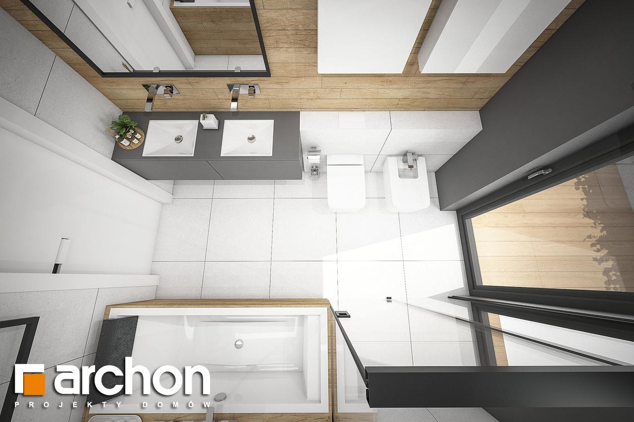 Проект будинку ARCHON+ Будинок в каландівах візуалізація ванни (візуалізація 3 від 4)