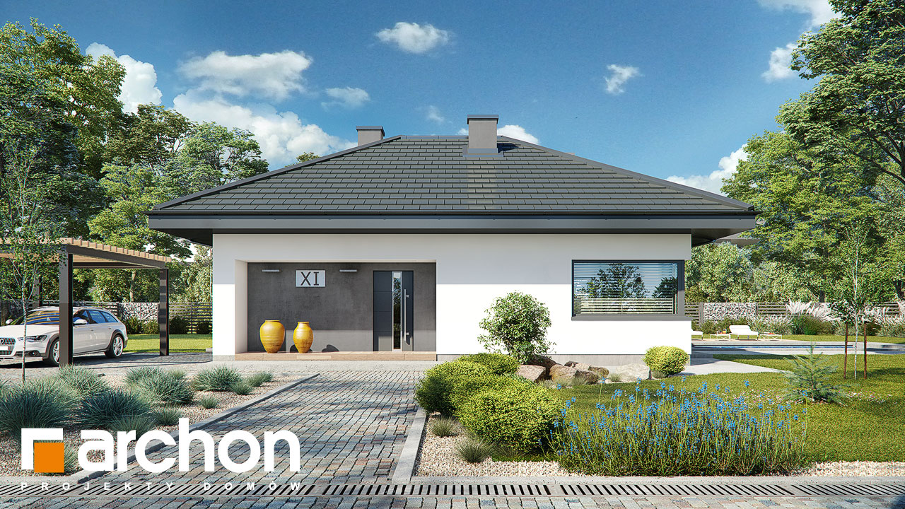 Проект будинку ARCHON+ Будинок в каландівах Вид 2
