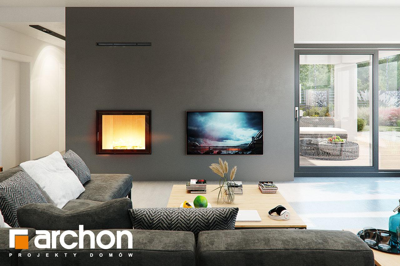 Проект будинку ARCHON+ Будинок в каландівах денна зона (візуалізація 1 від 1)