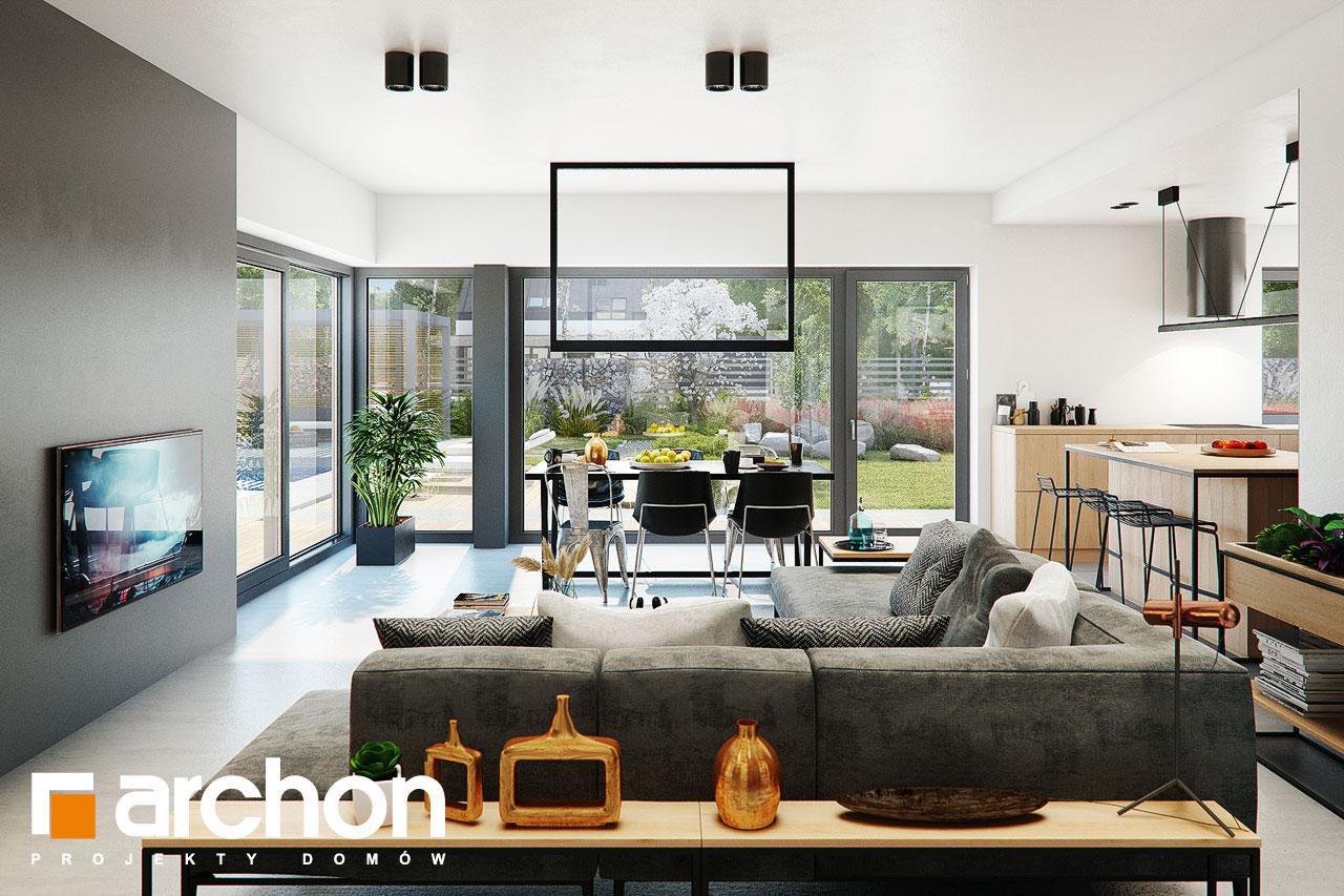 Проект будинку ARCHON+ Будинок в каландівах денна зона (візуалізація 1 від 2)
