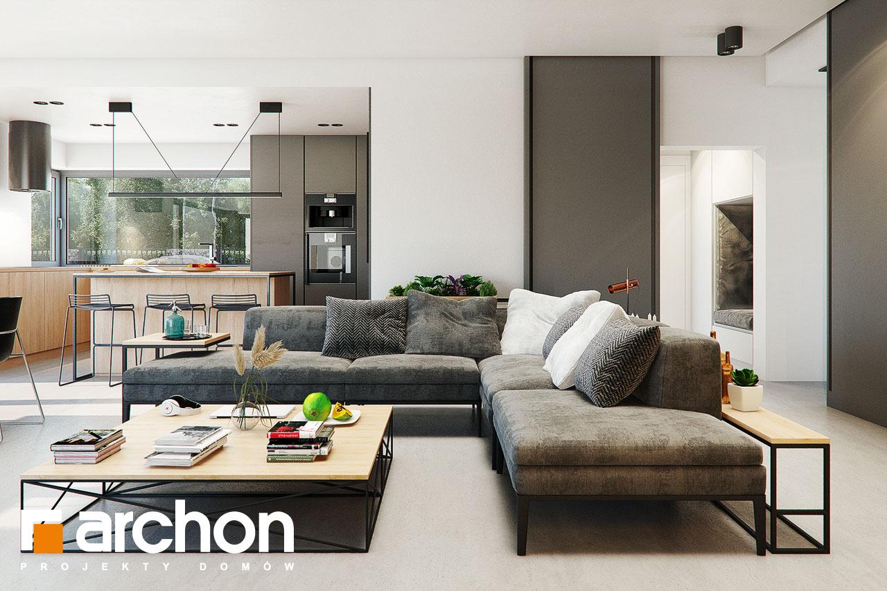 Проект будинку ARCHON+ Будинок в каландівах денна зона (візуалізація 1 від 3)