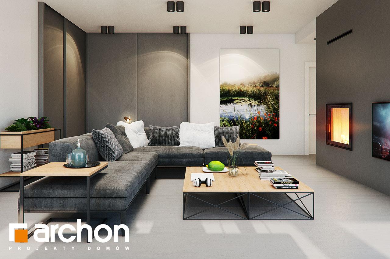 Проект будинку ARCHON+ Будинок в каландівах денна зона (візуалізація 1 від 5)