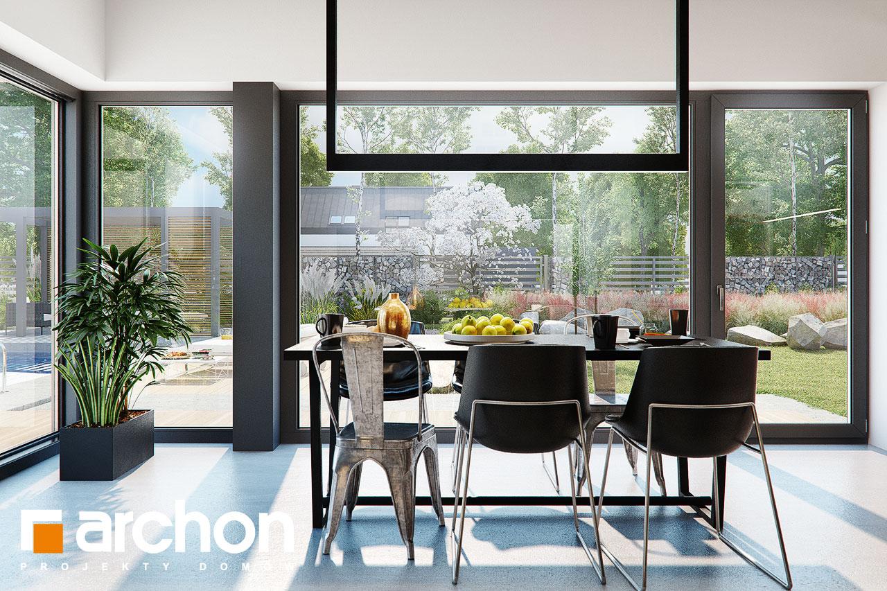 Проект будинку ARCHON+ Будинок в каландівах денна зона (візуалізація 1 від 6)