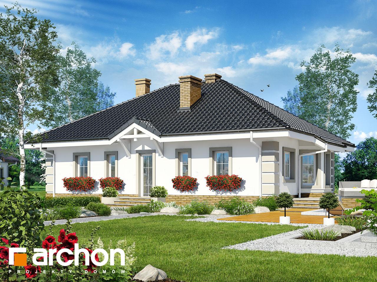 Проект дома ARCHON+ Дом под красной рябиной 4 вер.2 Вид 2