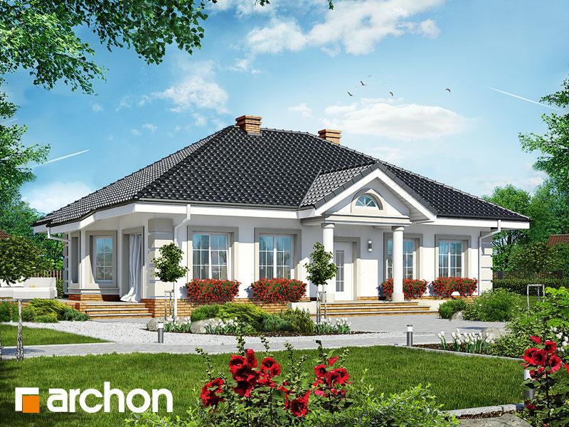 Проект дома ARCHON+ Дом под красной рябиной 4 вер.2 Вид 1