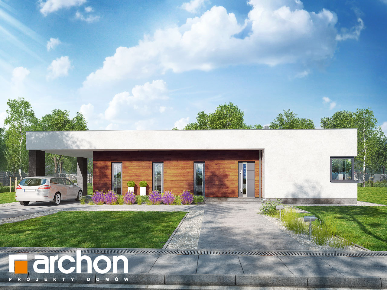 Проект будинку ARCHON+ Будинок в плюмеріях