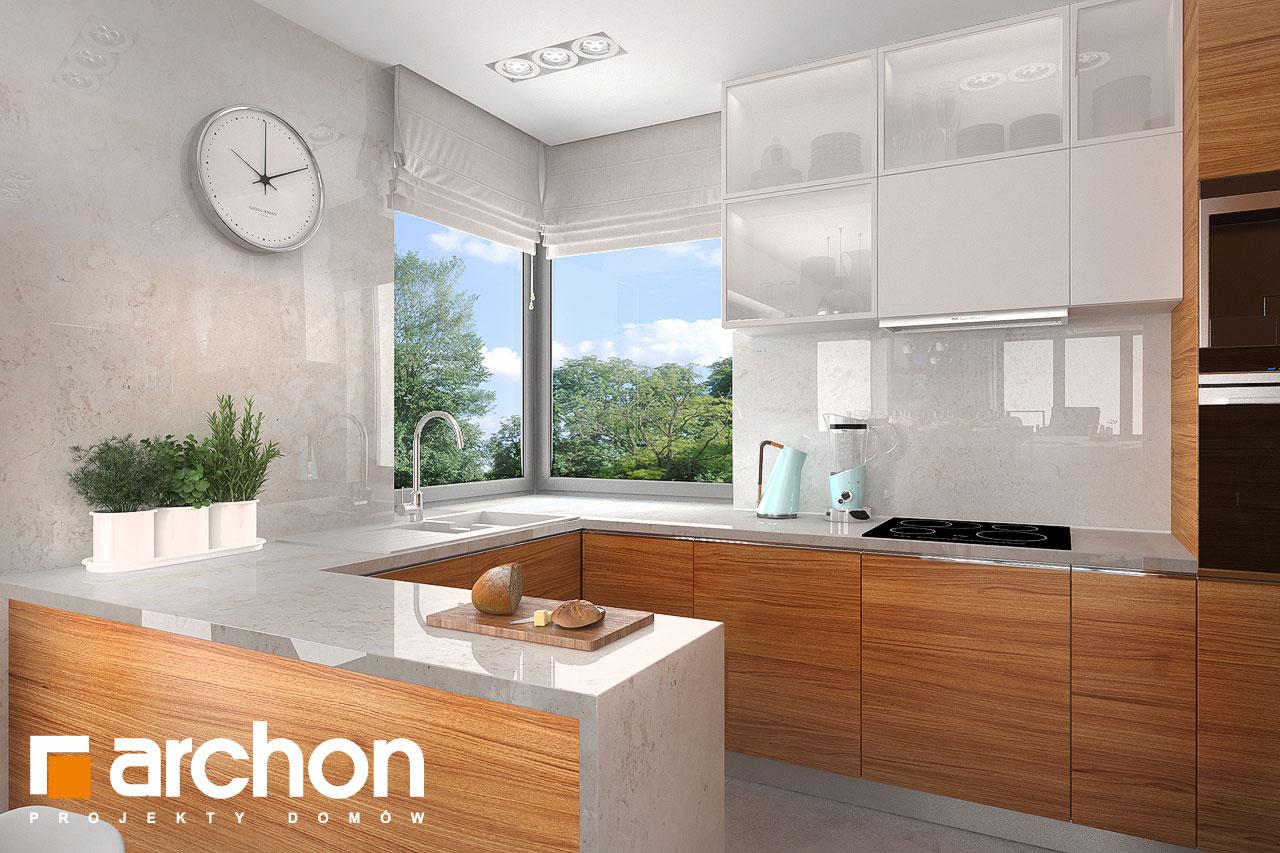Проект будинку ARCHON+ Будинок в плюмеріях візуалізація кухні 1 від 1