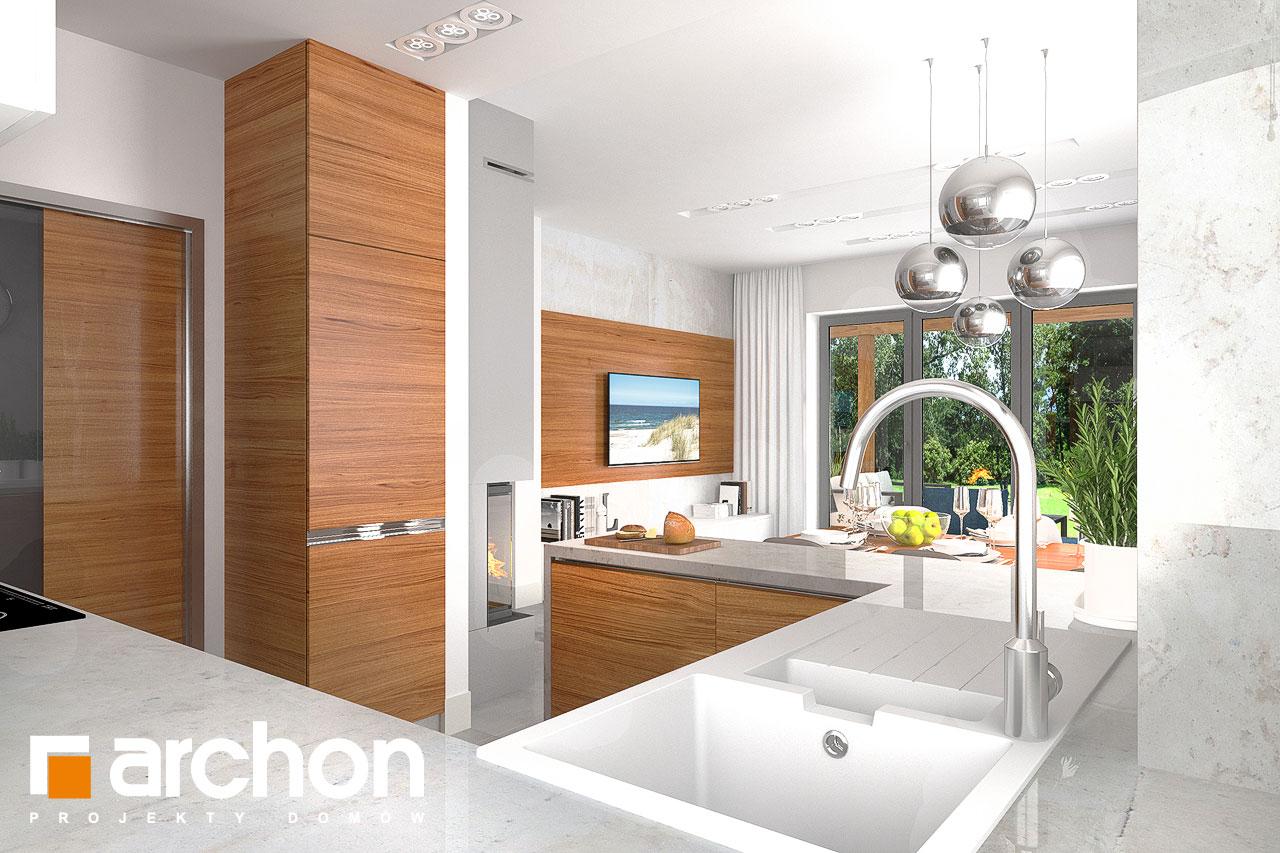 Проект будинку ARCHON+ Будинок в плюмеріях візуалізація кухні 1 від 2