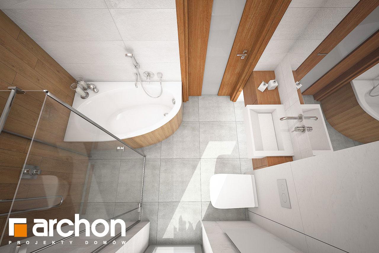 Проект будинку ARCHON+ Будинок в плюмеріях візуалізація ванни (візуалізація 3 від 4)