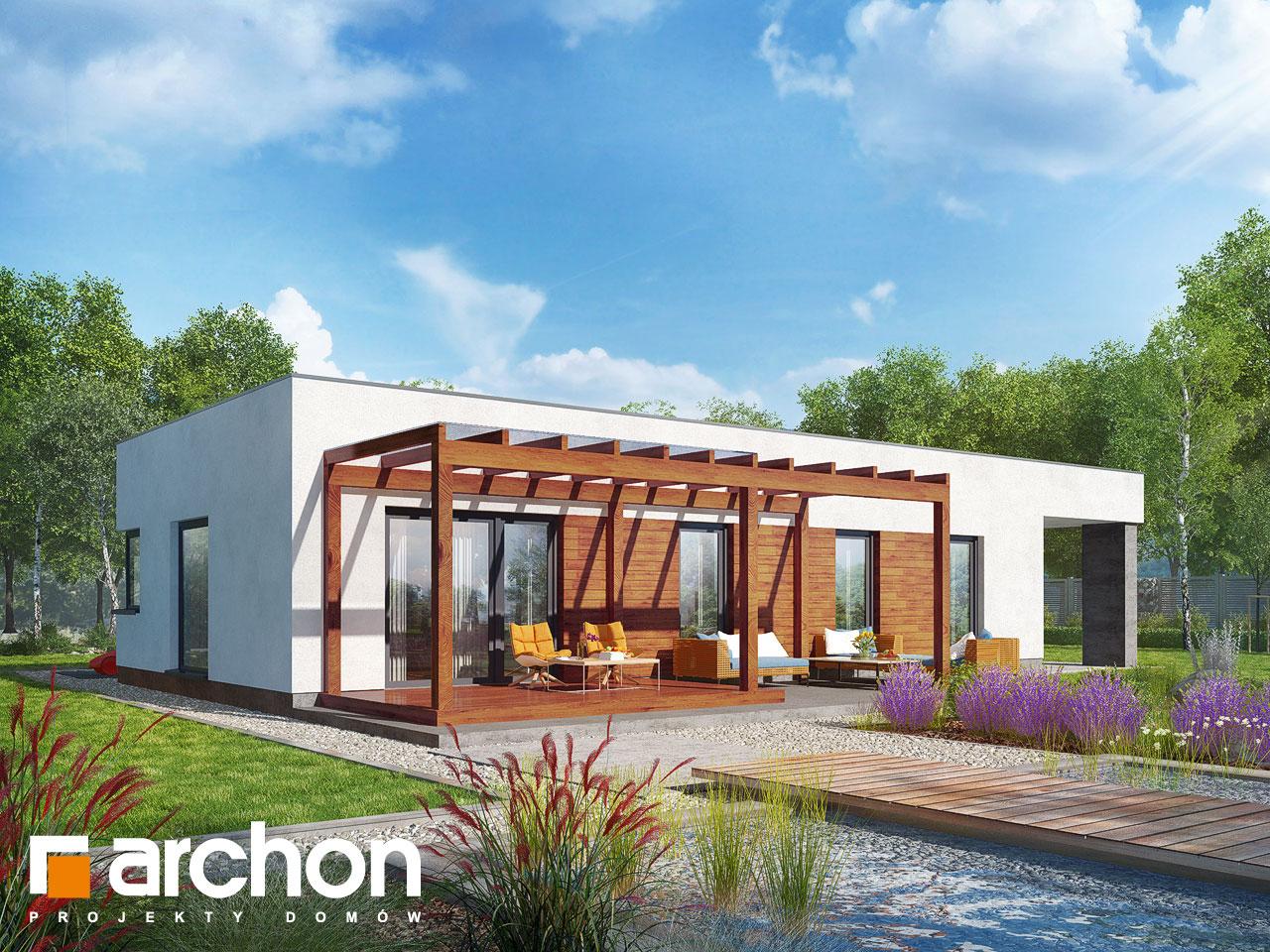 Проект будинку ARCHON+ Будинок в плюмеріях Вид 2
