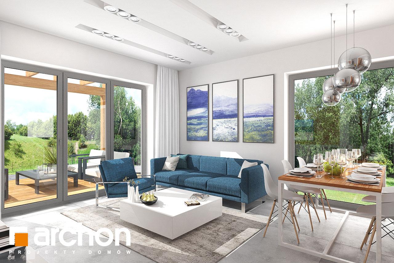 Проект будинку ARCHON+ Будинок в плюмеріях денна зона (візуалізація 1 від 1)