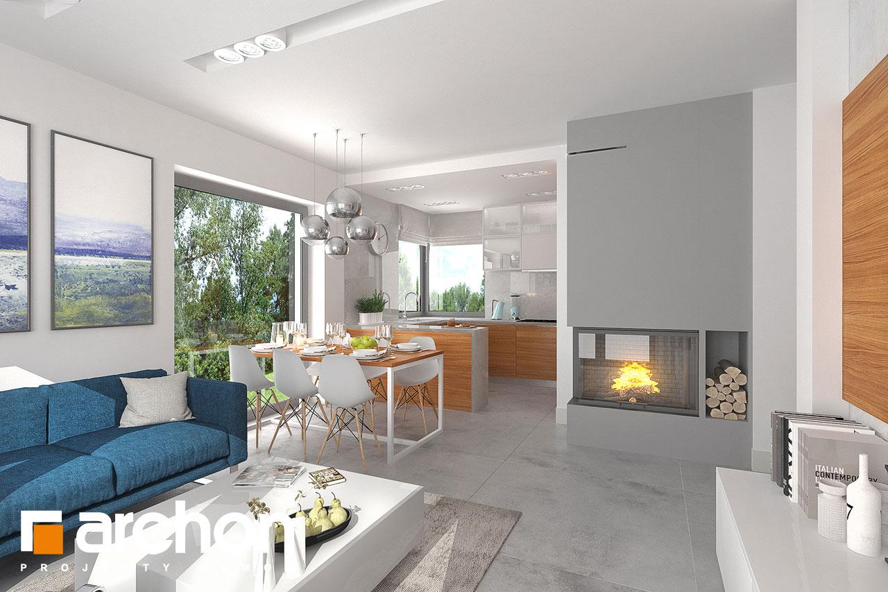 Проект будинку ARCHON+ Будинок в плюмеріях денна зона (візуалізація 1 від 2)