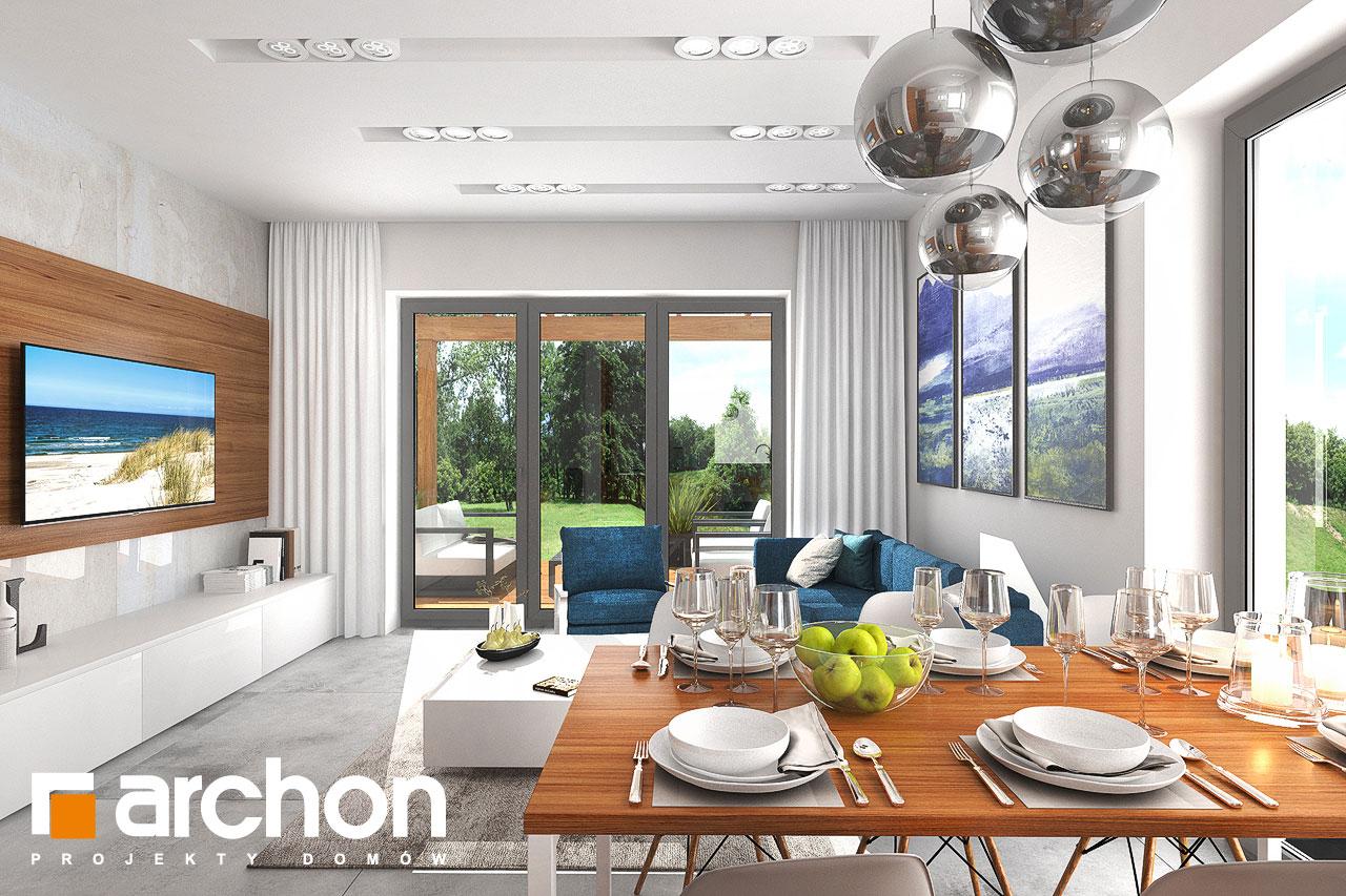 Проект будинку ARCHON+ Будинок в плюмеріях денна зона (візуалізація 1 від 3)