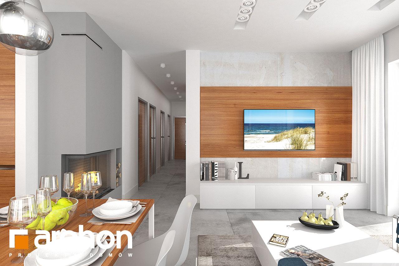 Проект будинку ARCHON+ Будинок в плюмеріях денна зона (візуалізація 1 від 4)