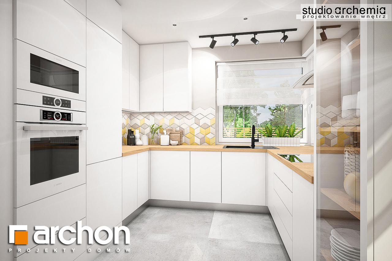 Проект дома ARCHON+ Дом в журавках (A) визуализация кухни 1 вид 2