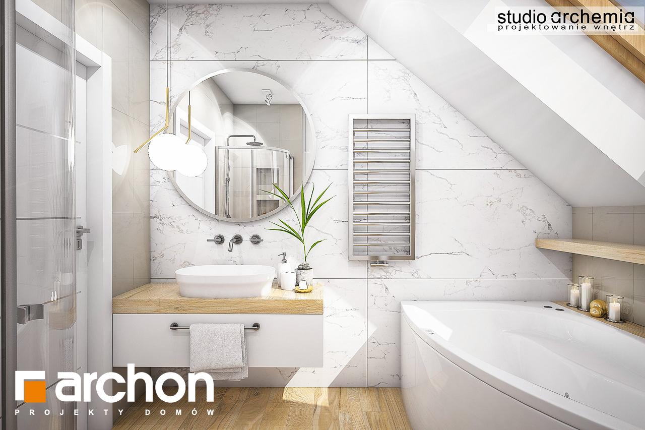Проект дома ARCHON+ Дом в журавках (A) визуализация ванной (визуализация 3 вид 2)