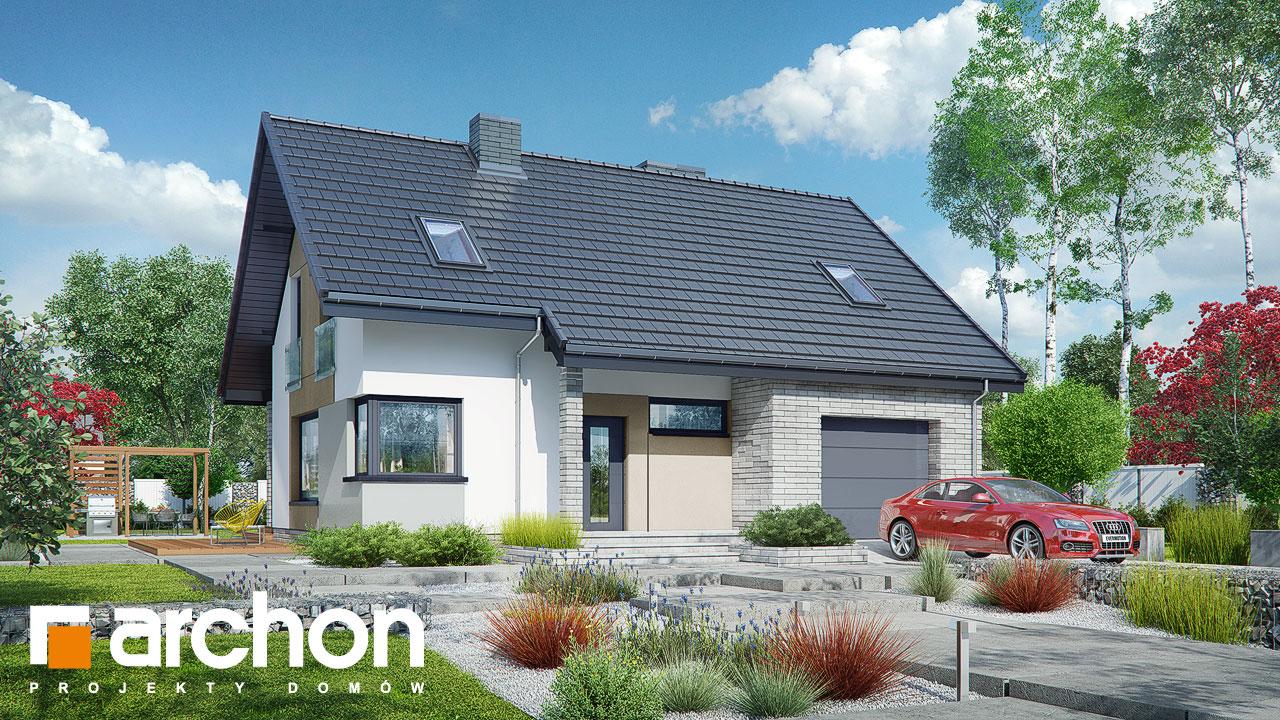 Проект будинку ARCHON+ Будинок в журавках (A) стилізація 3
