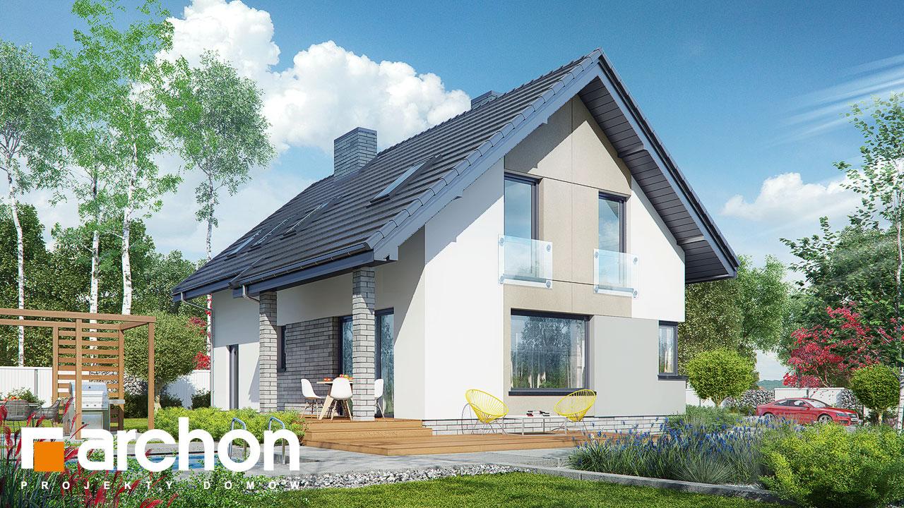 Проект будинку ARCHON+ Будинок в журавках (A) стилізація 4