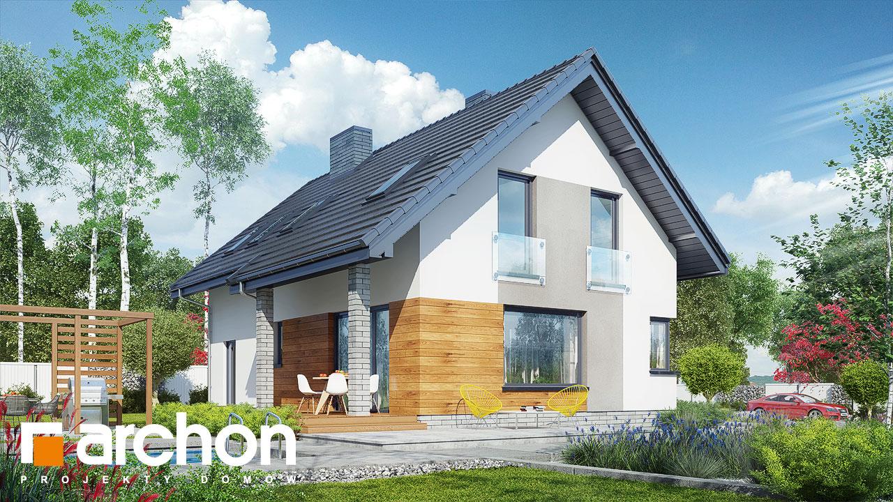 Проект будинку ARCHON+ Будинок в журавках (A) Вид 2