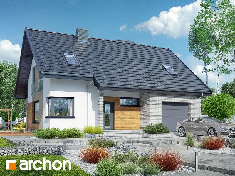 Проект будинку ARCHON+ Будинок в журавках (A) Вид 1
