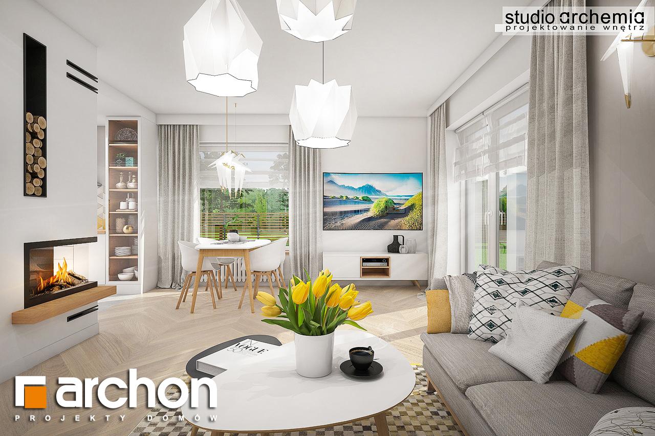 Проект дома ARCHON+ Дом в журавках (A) дневная зона (визуализация 1 вид 3)