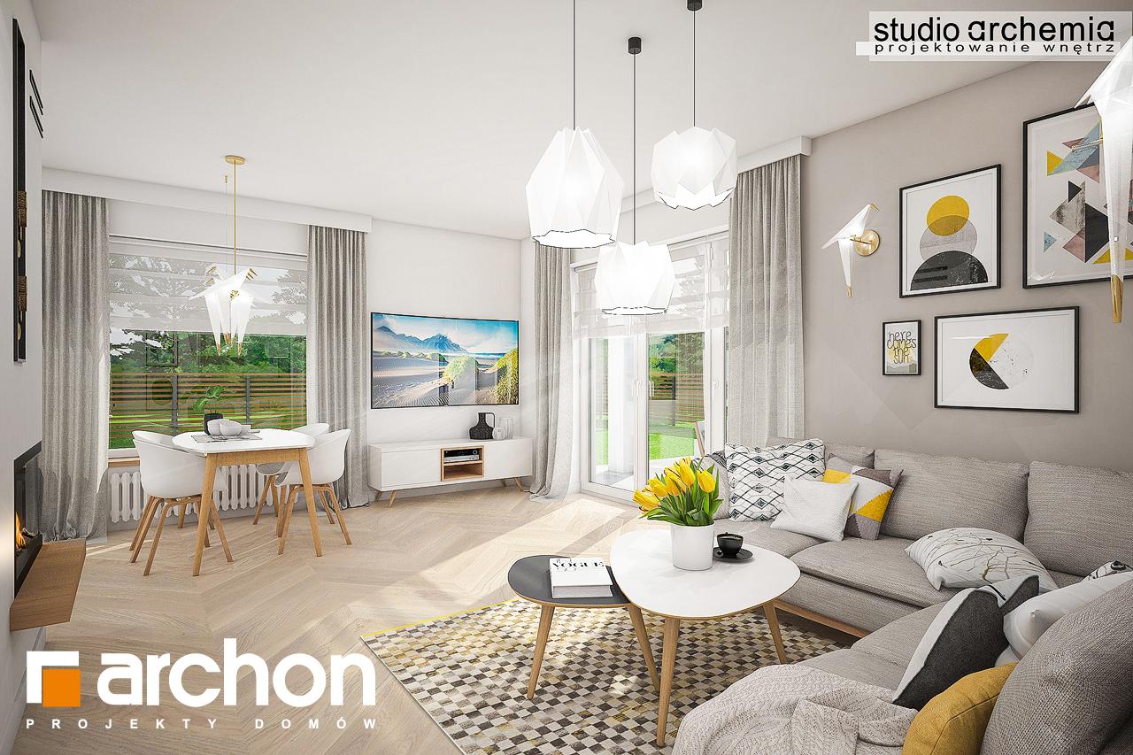Проект дома ARCHON+ Дом в журавках (A) дневная зона (визуализация 1 вид 4)