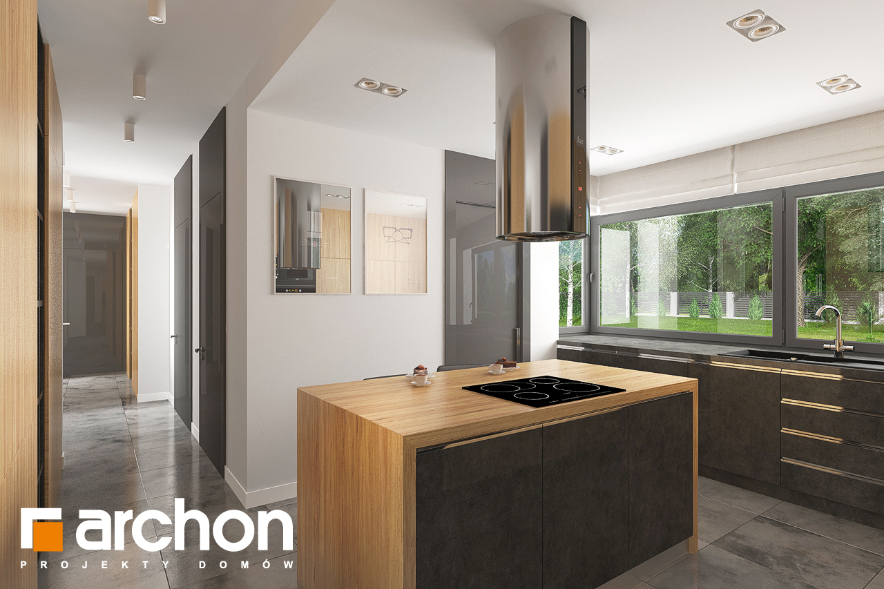 Проект будинку ARCHON+ Будинок в ісменах (Г2) візуалізація кухні 1 від 2