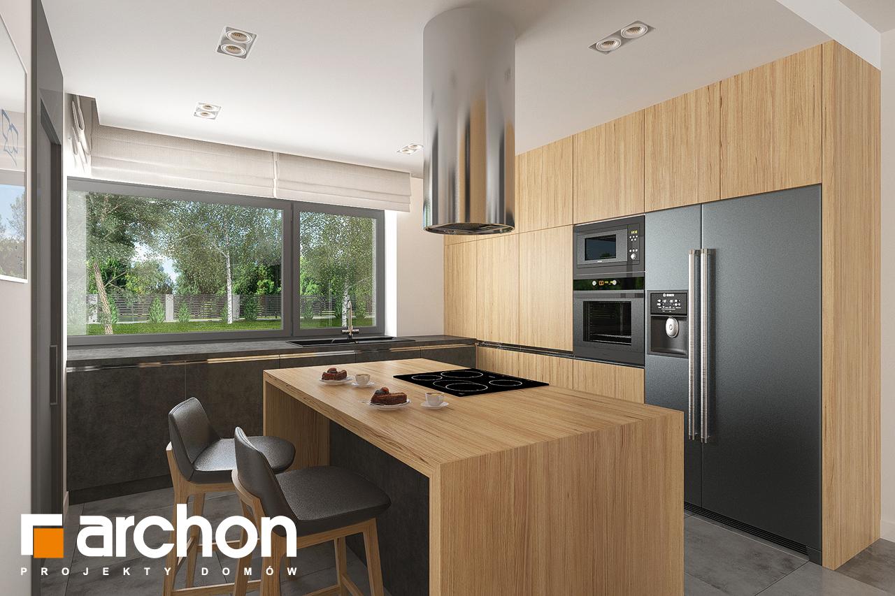 Проект дома ARCHON+ Дом в исменах (Г2) визуализация кухни 1 вид 1