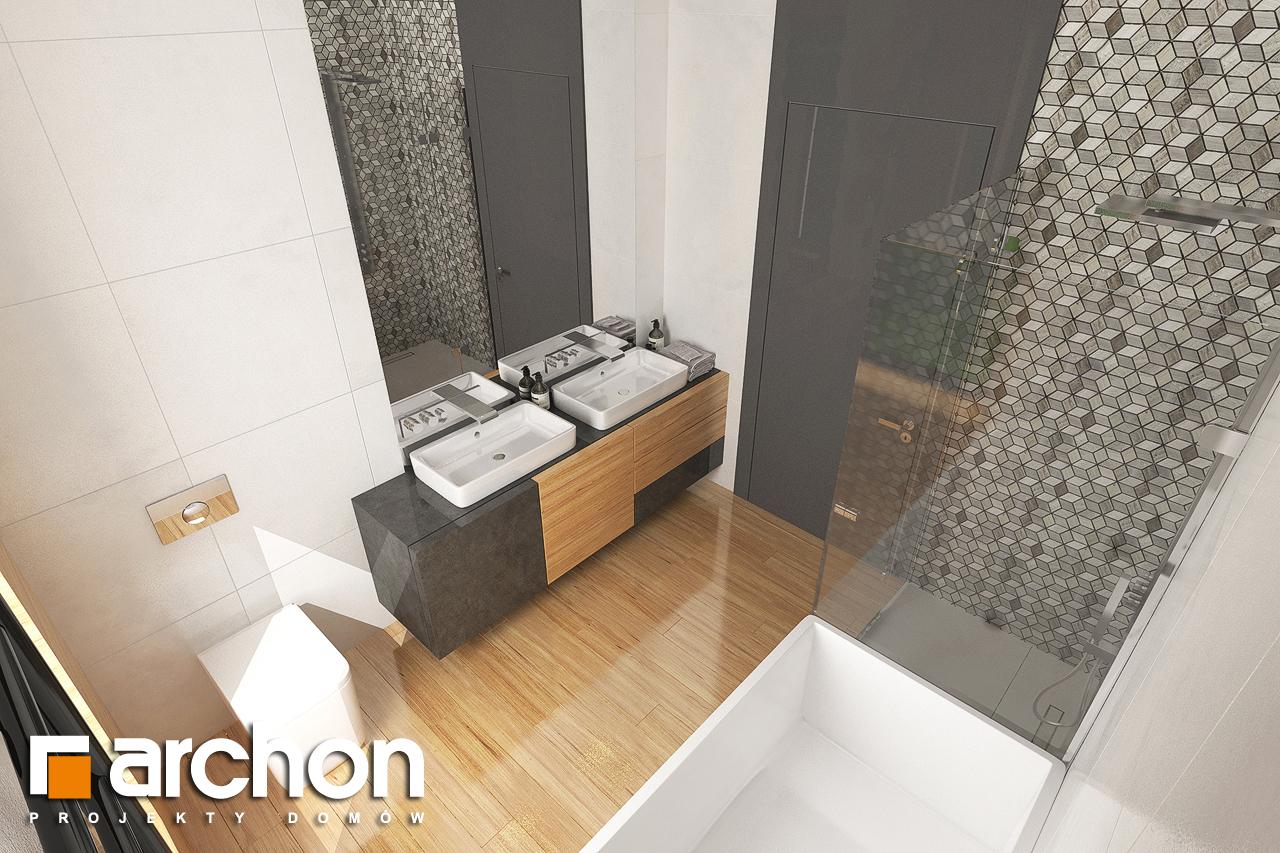 Проект дома ARCHON+ Дом в исменах (Г2) визуализация ванной (визуализация 3 вид 1)
