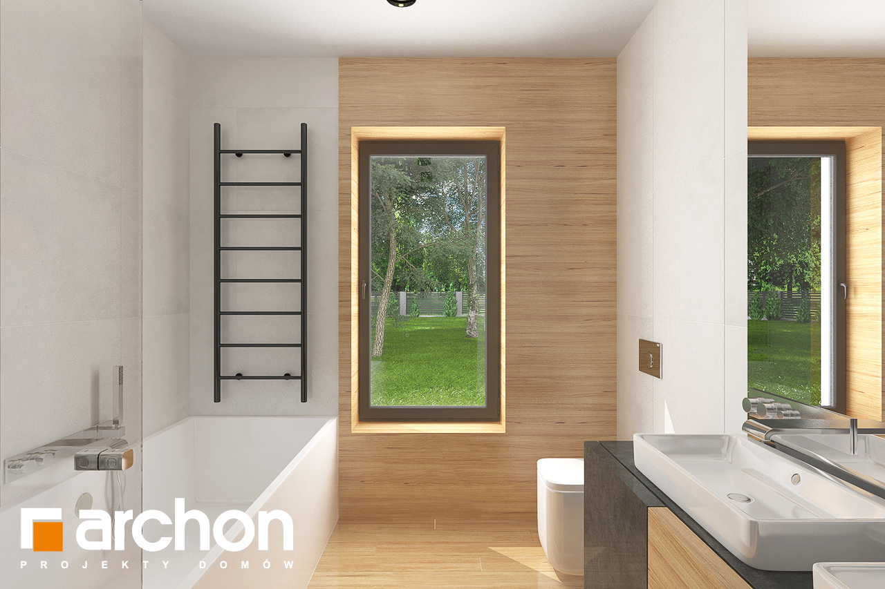 Проект дома ARCHON+ Дом в исменах (Г2) визуализация ванной (визуализация 3 вид 2)