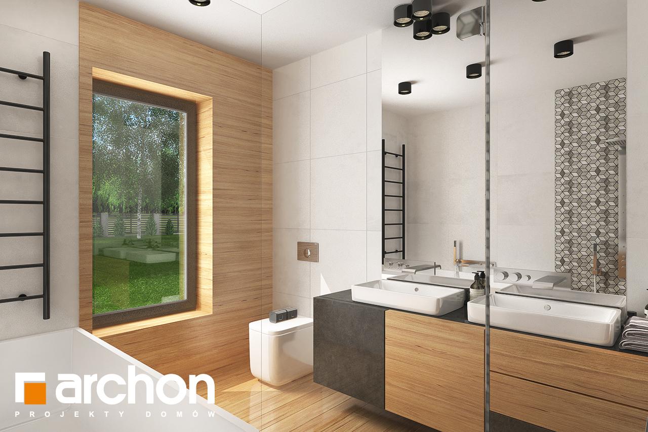 Проект дома ARCHON+ Дом в исменах (Г2) визуализация ванной (визуализация 3 вид 3)